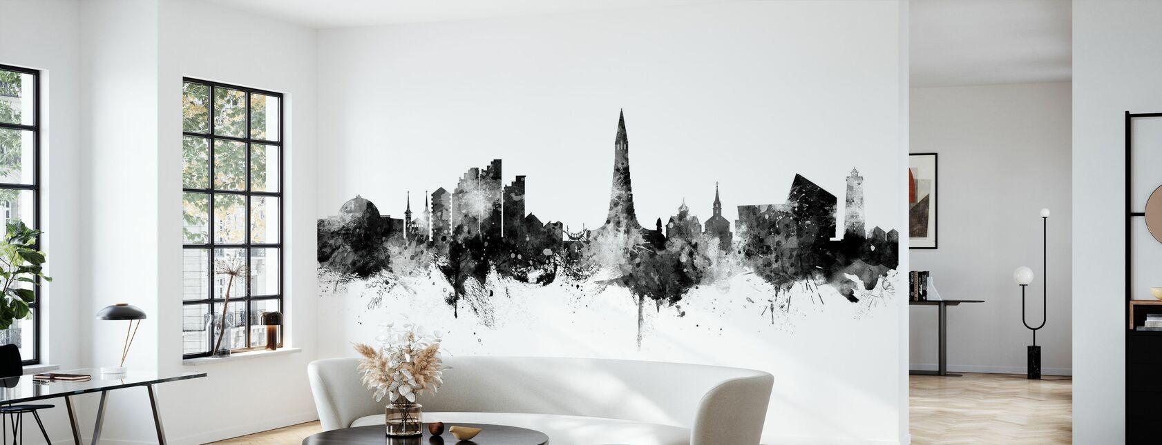 Reykjavik Iceland Skyline - Wallpaper - Living Room