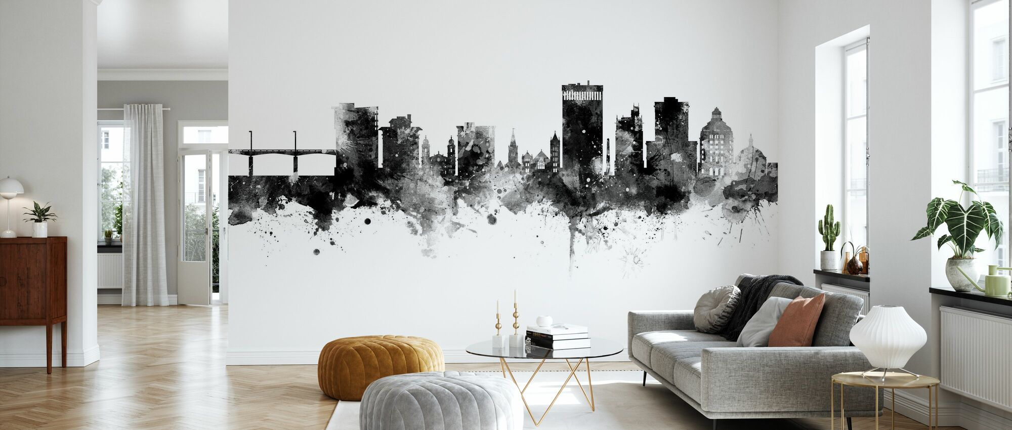 Asheville North Carolina Skyline - Wallpaper - Living Room