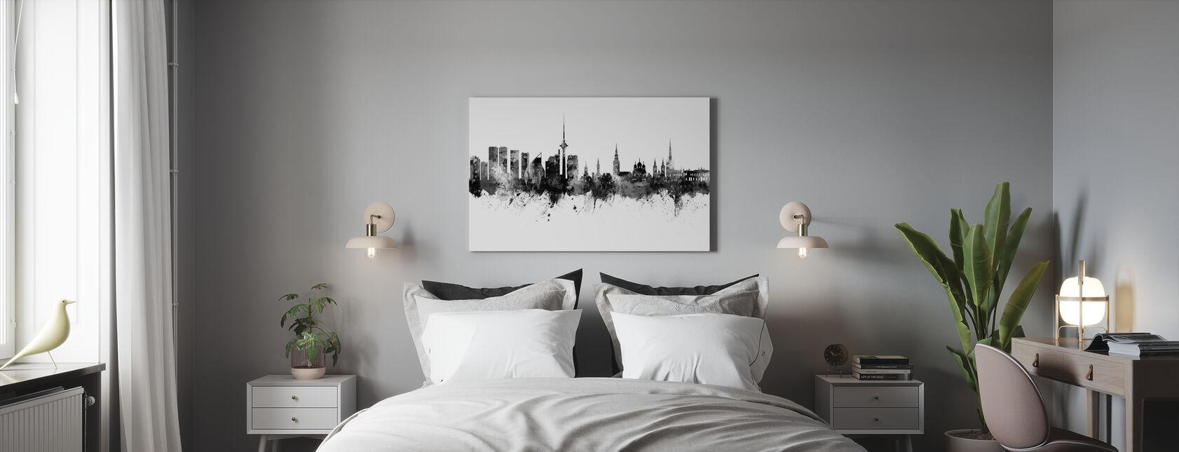 Tallinn Estonia Skyline - Canvas print - Bedroom