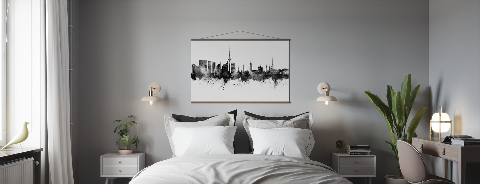 Tallinn Estonia Skyline - Poster - Bedroom