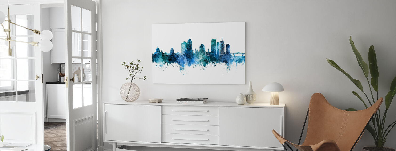 Saint Paul Minnesota Skyline - Canvas print - Living Room