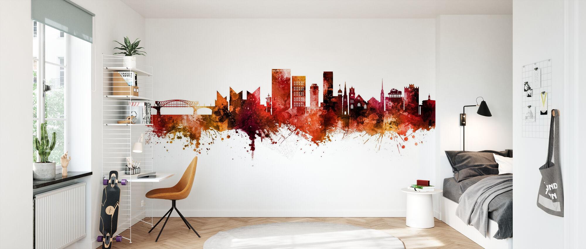 Chattanooga Tennessee Skyline - Wallpaper - Kids Room