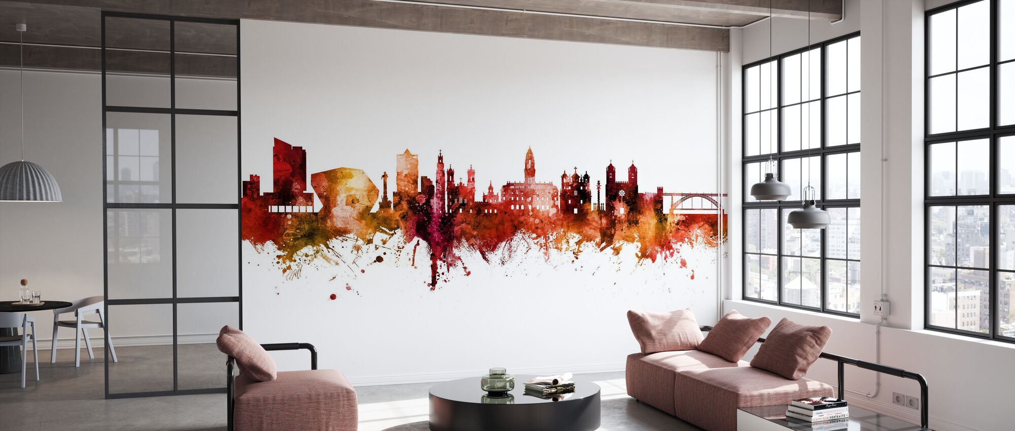 Porto Portugal Skyline - Wallpaper - Office
