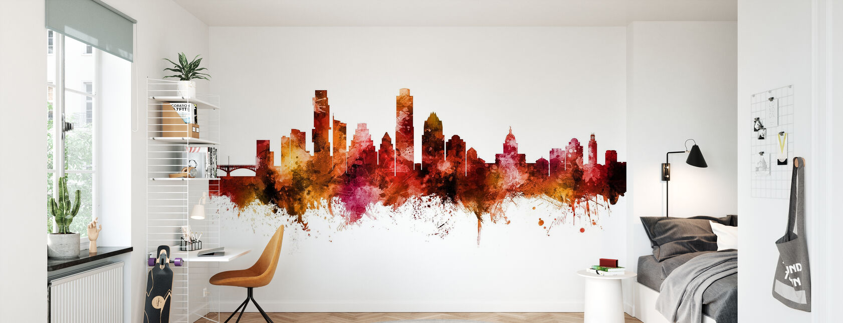 Austin Texas Skyline - Wallpaper - Kids Room