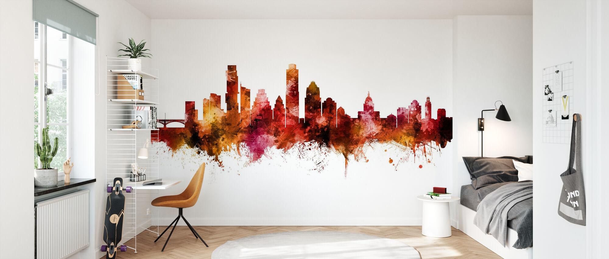Austin Texas Skyline - Wallpaper - Kids Room
