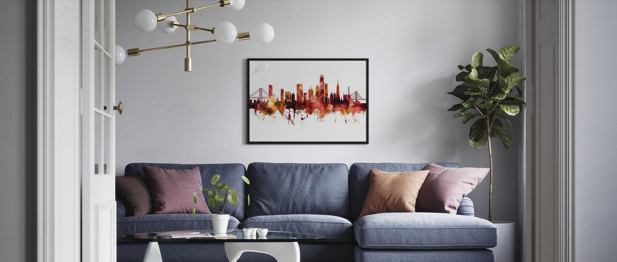 San Francisco California Skyline - Plakat - Stue