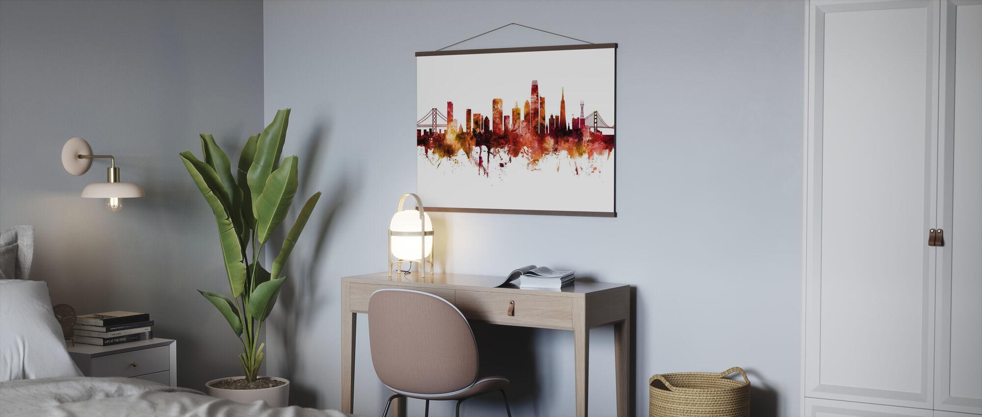 Skyline van San Francisco Californië - Poster - Kantoor