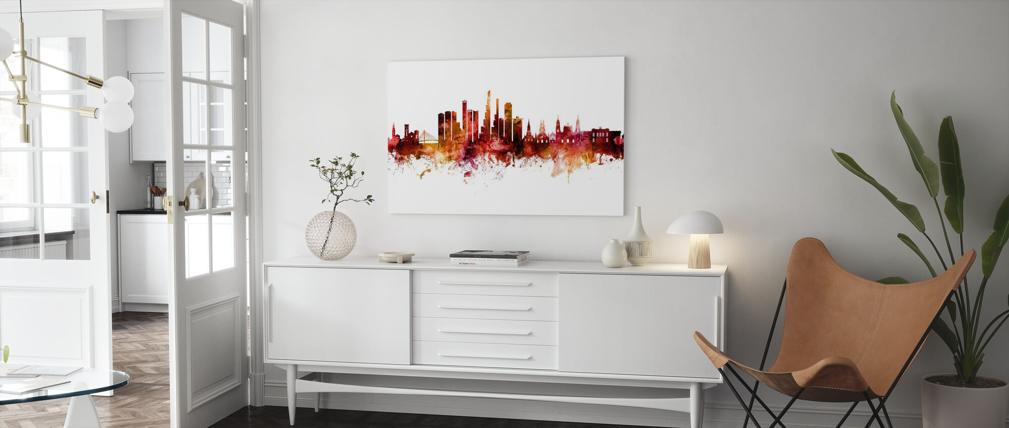 Bogota Colombia Skyline - Canvas print - Living Room