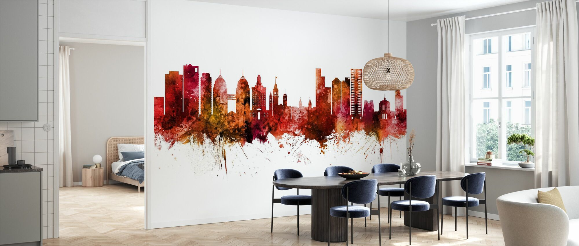 Oakland California Skyline - Wallpaper - Kitchen