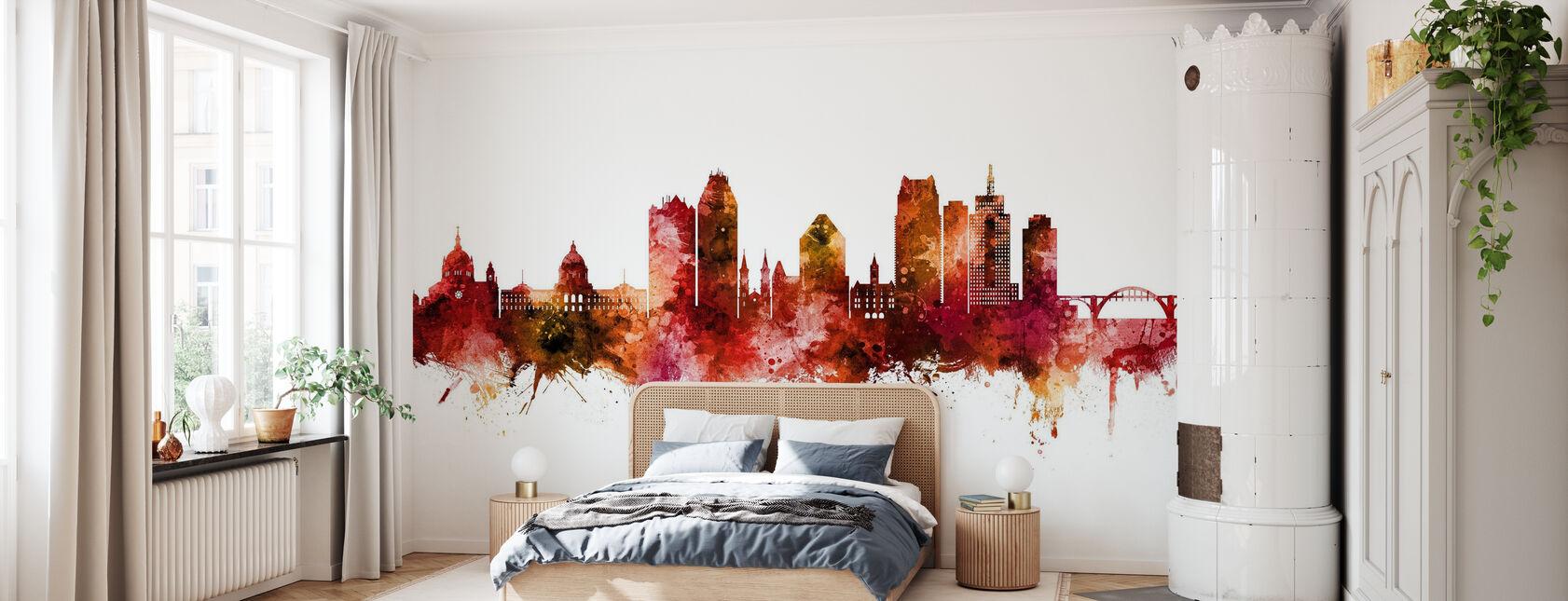 Saint Paul Minnesota Skyline - Wallpaper - Bedroom