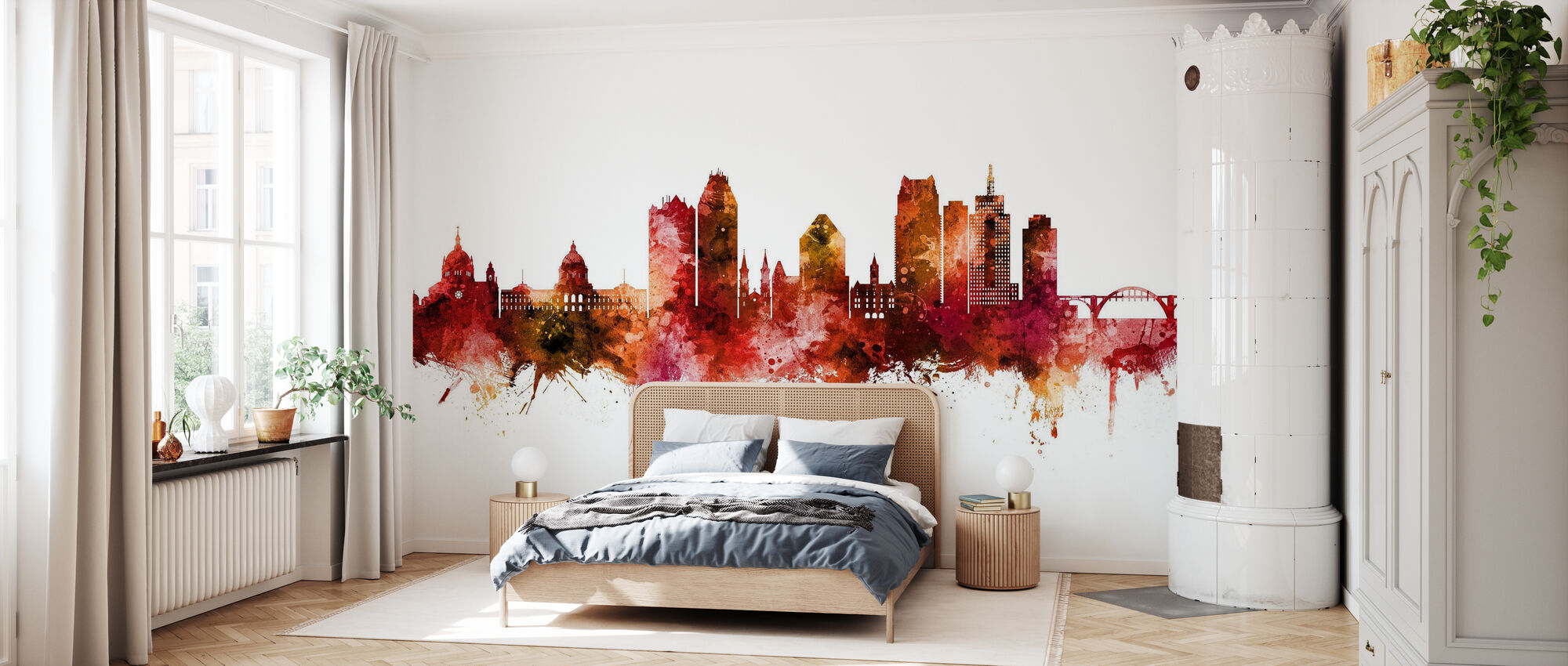 Saint Paul Minnesota Skyline - Wallpaper - Bedroom