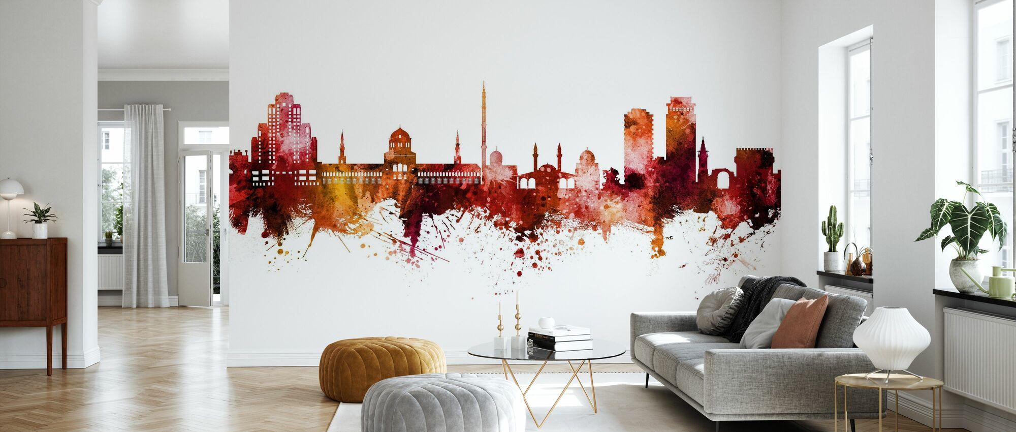 Damascus Syria Skyline - Wallpaper - Living Room