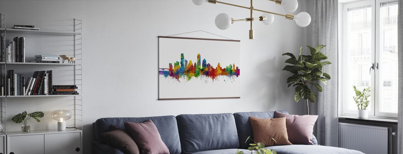 Austin Texas Skyline - Poster - Living Room