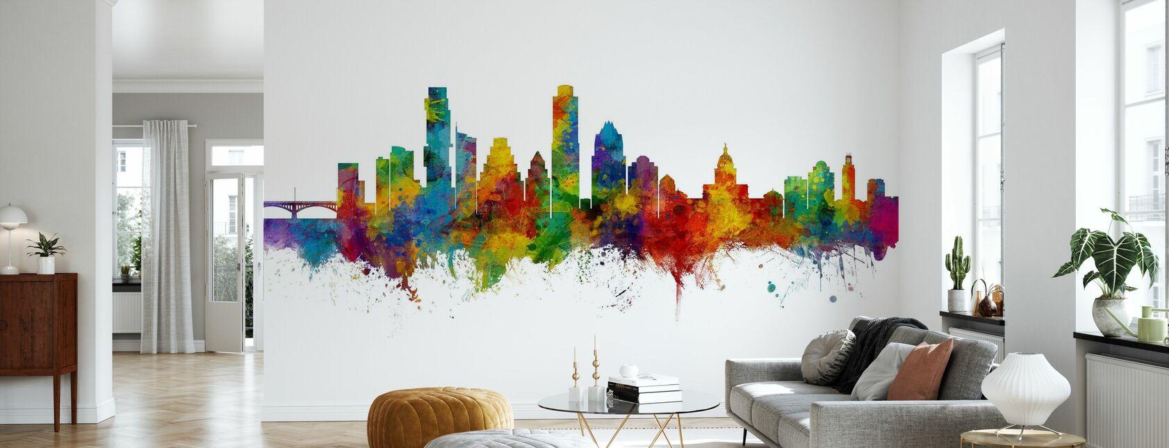 Austin Texas Skyline - Wallpaper - Living Room