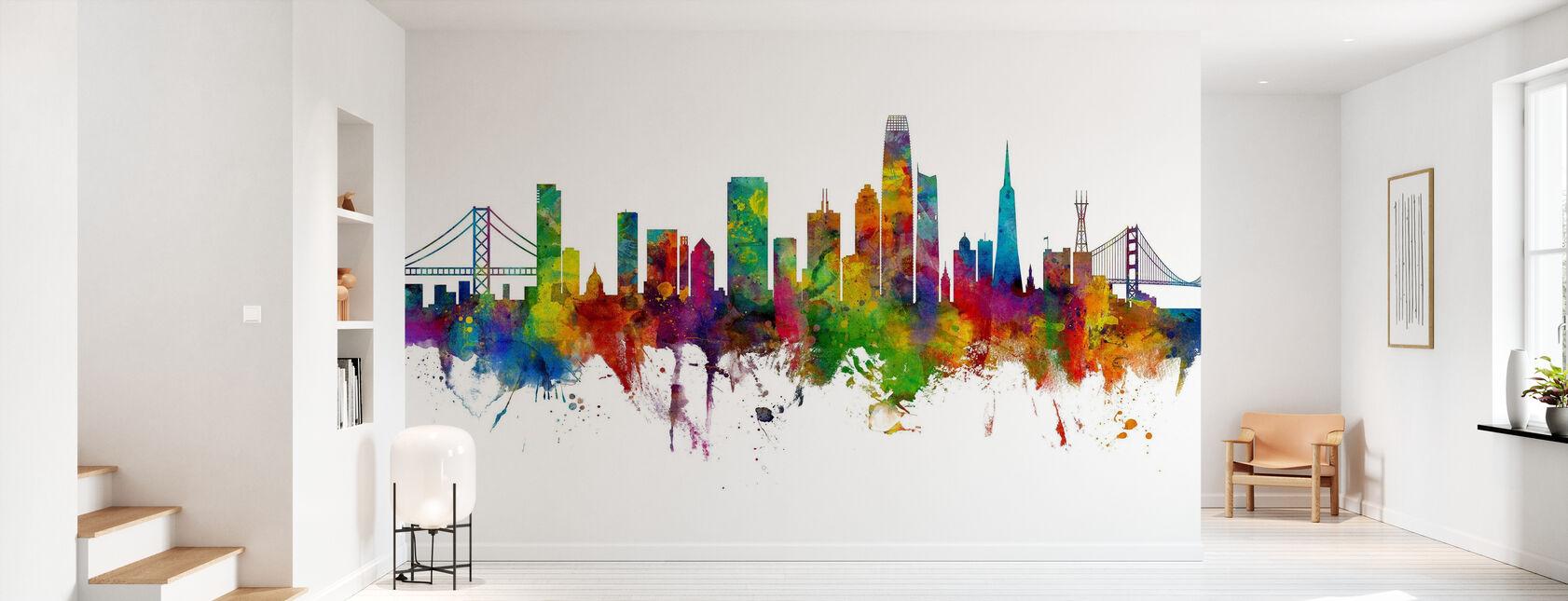 San Francisco California Skyline - Wallpaper - Hallway