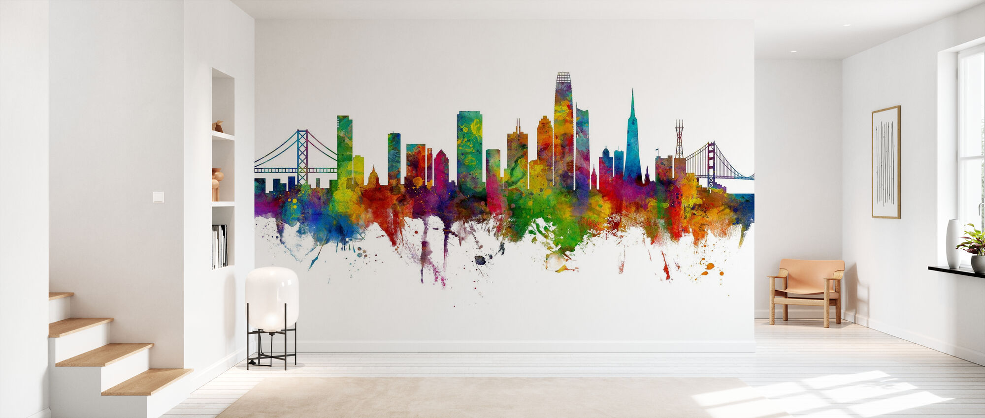 San Francisco California Skyline - Wallpaper - Hallway