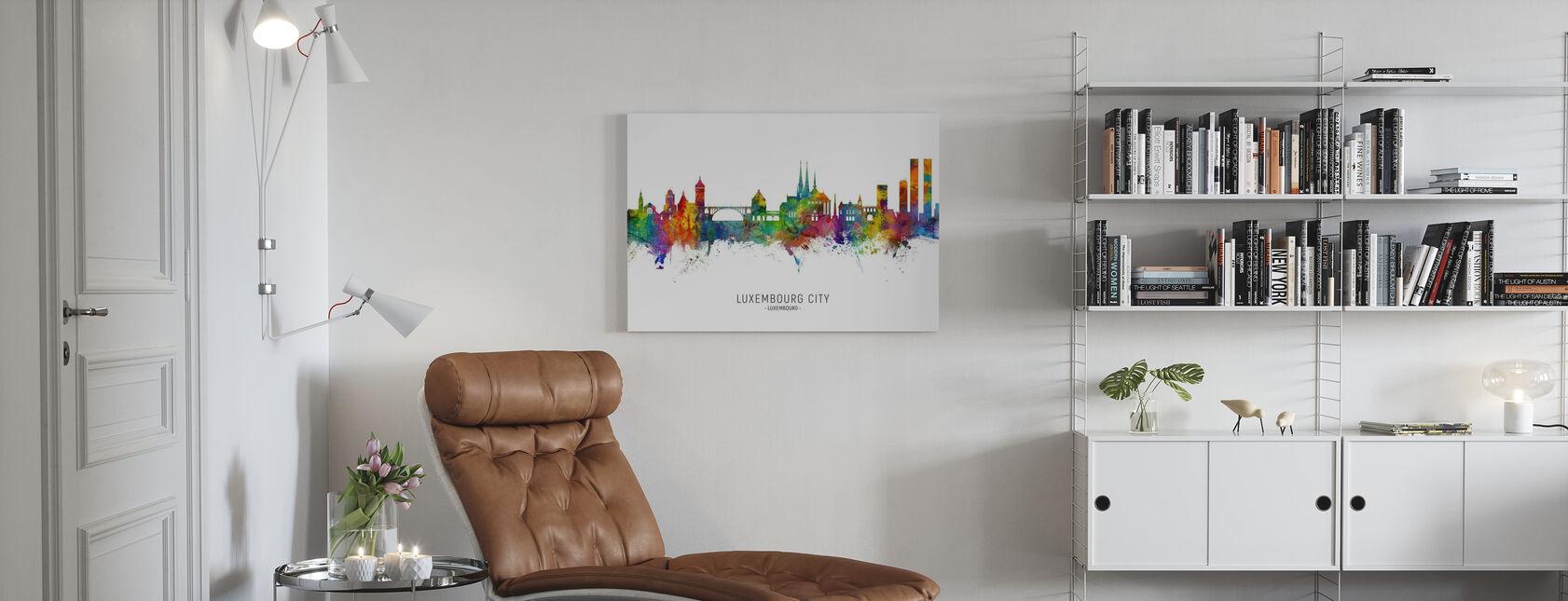 Skyline der Stadt Luxemburg - Leinwandbild - Wohnzimmer