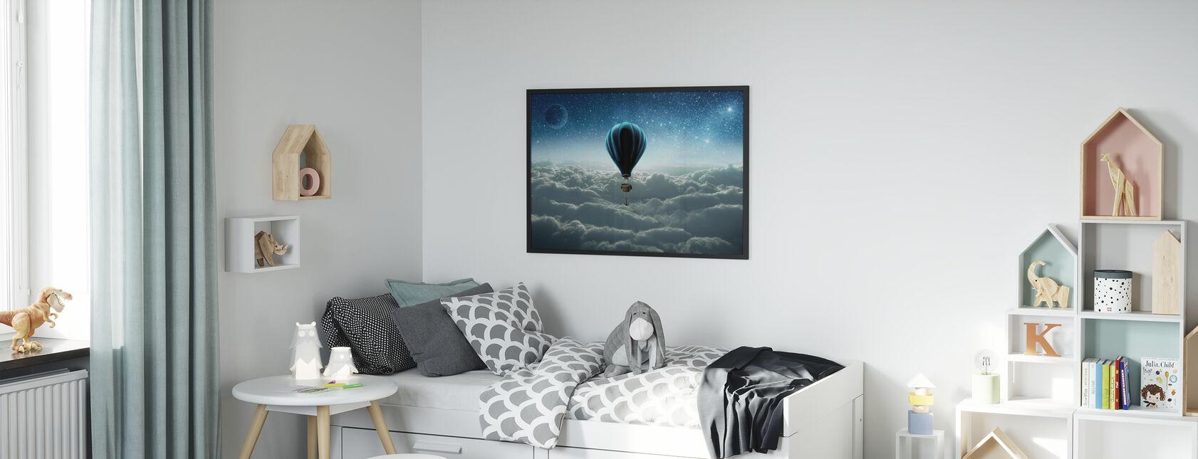 Hot Air Balloon - Framed print - Kids Room