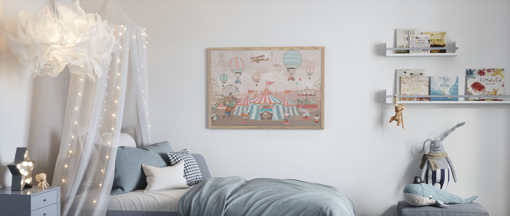 Circus Animals - Framed print - Kids Room