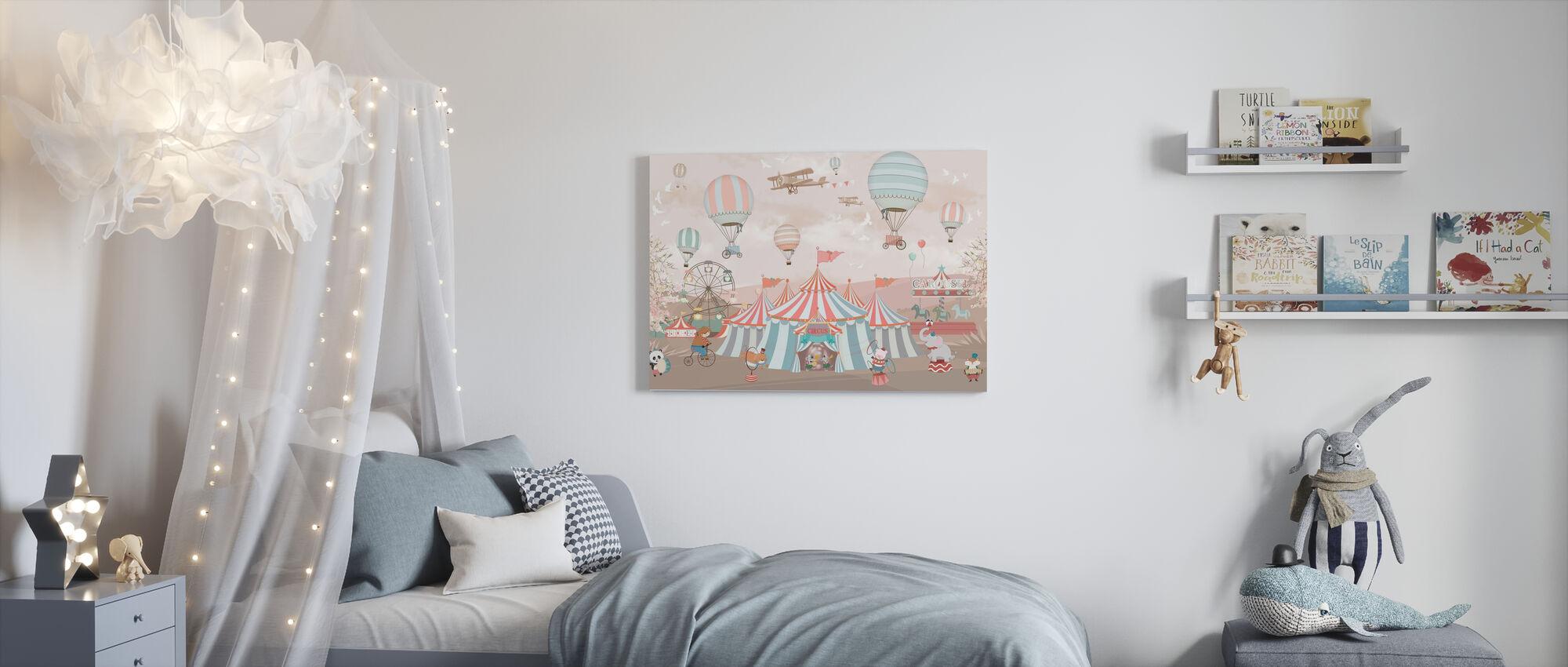 Circus Animals - Canvas print - Kids Room