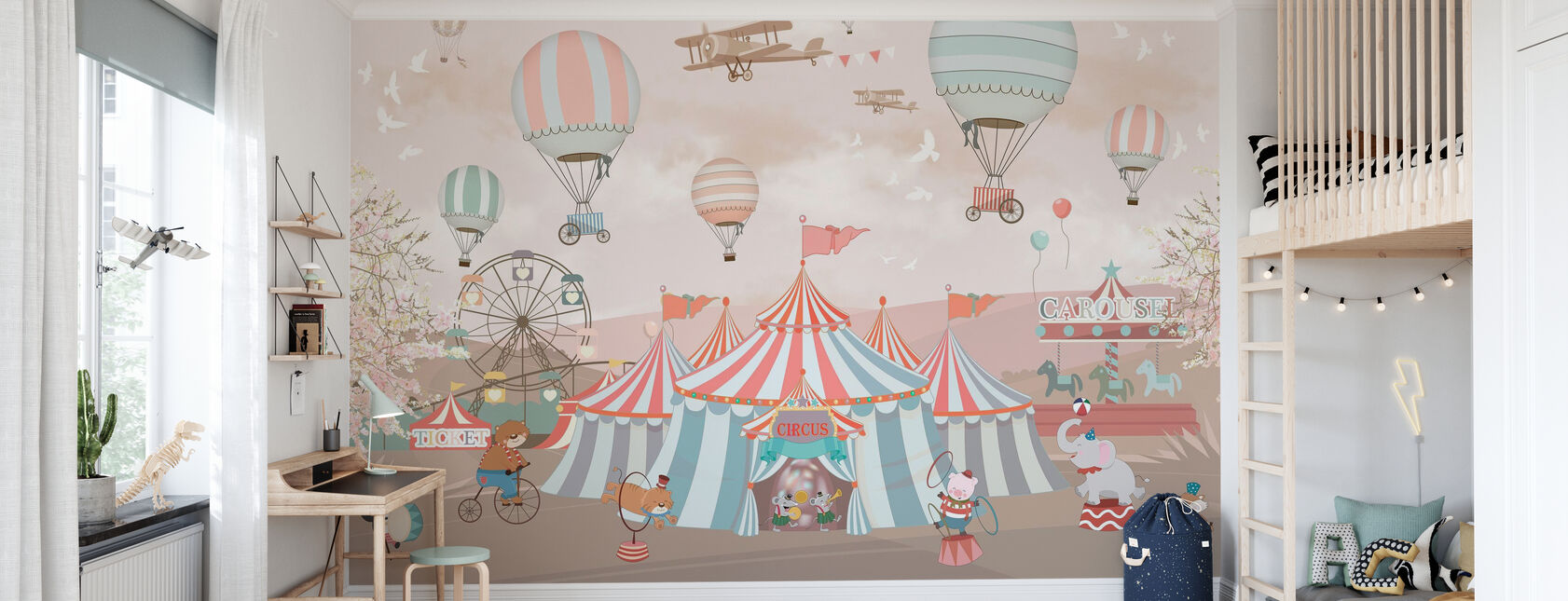 Circus Animals - Wallpaper - Kids Room