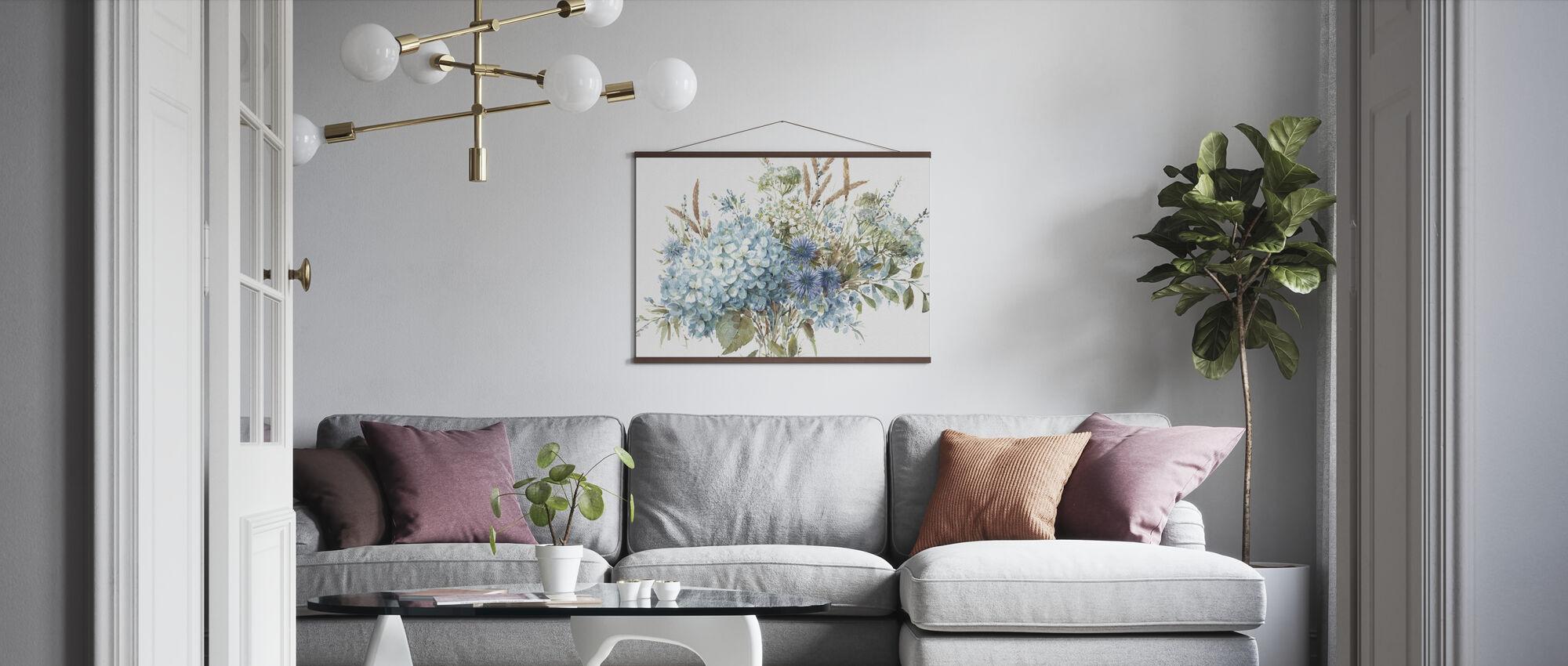 Bohemisk Blå 01A - Poster - Vardagsrum