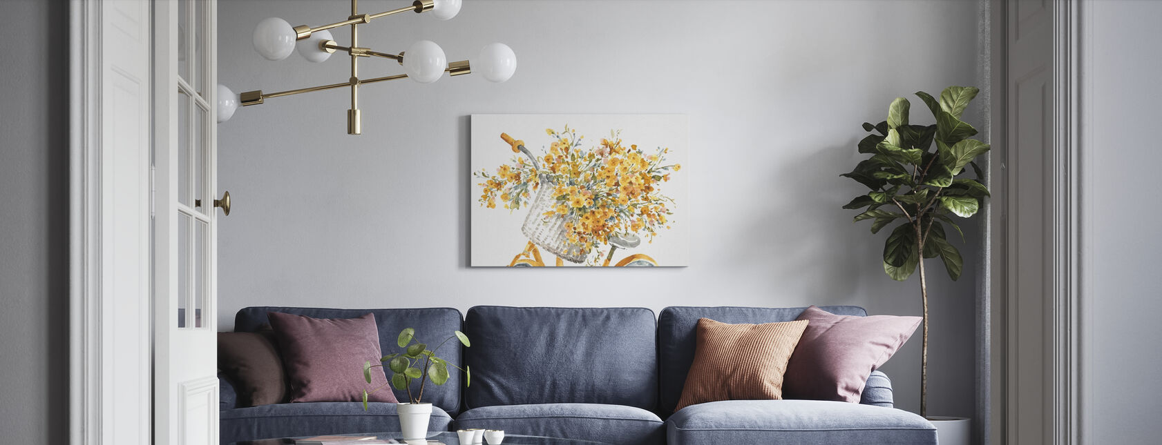 Happy Yellow 07A - Canvas print - Living Room