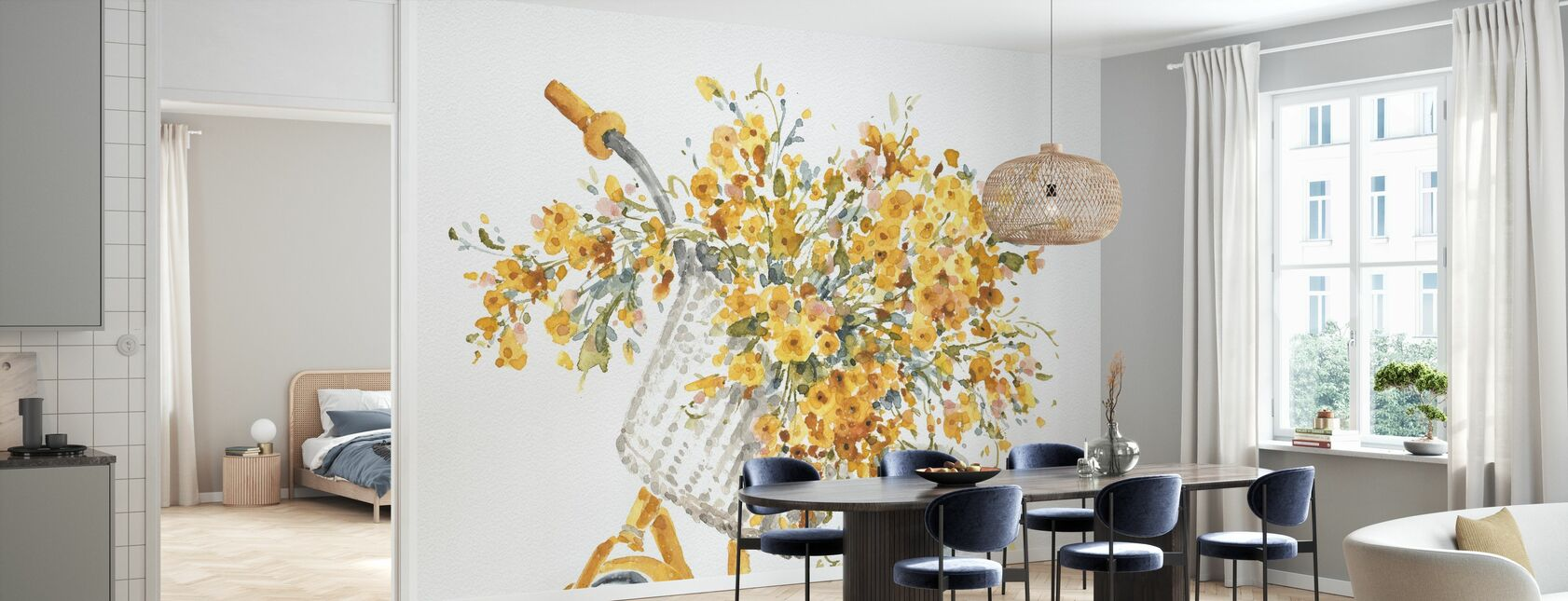 Happy Yellow 07A - Wallpaper - Kitchen