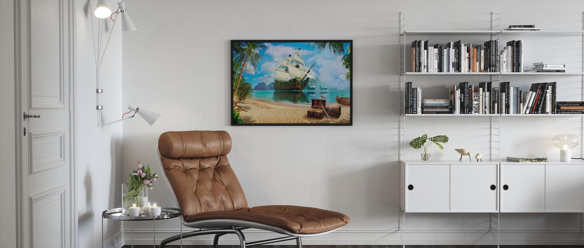 Pirate Treasure Island - Poster - Living Room
