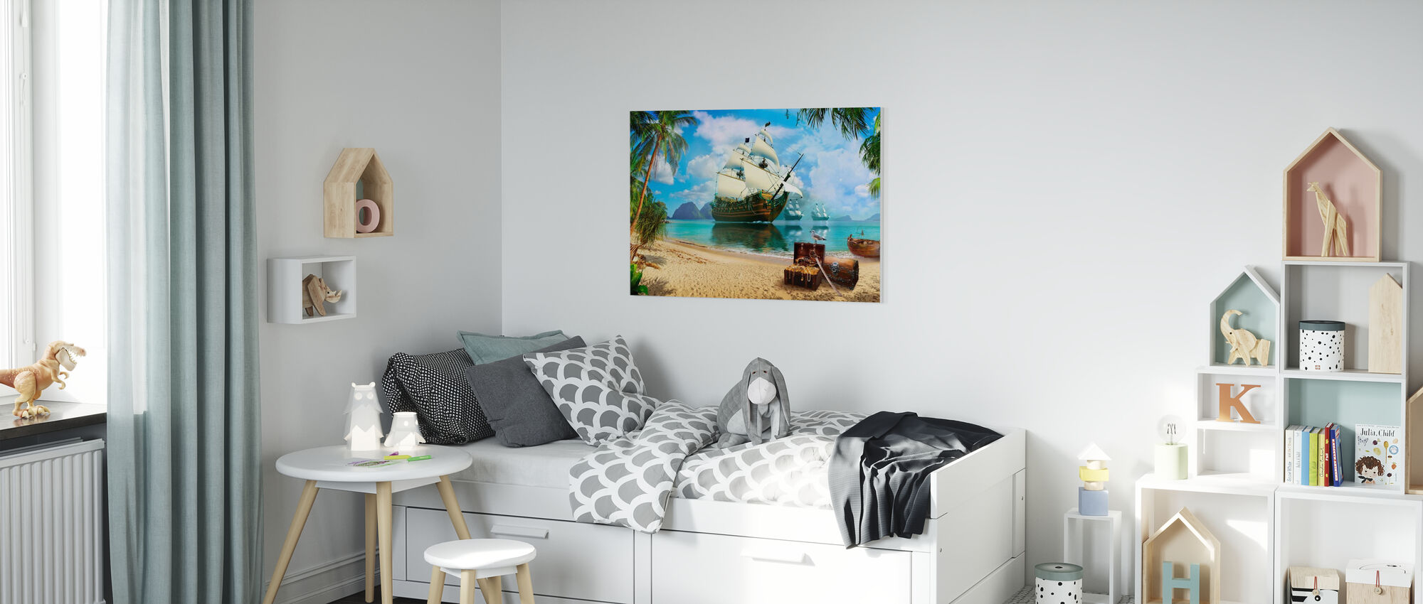 Pirate Treasure Island - Canvas print - Kids Room