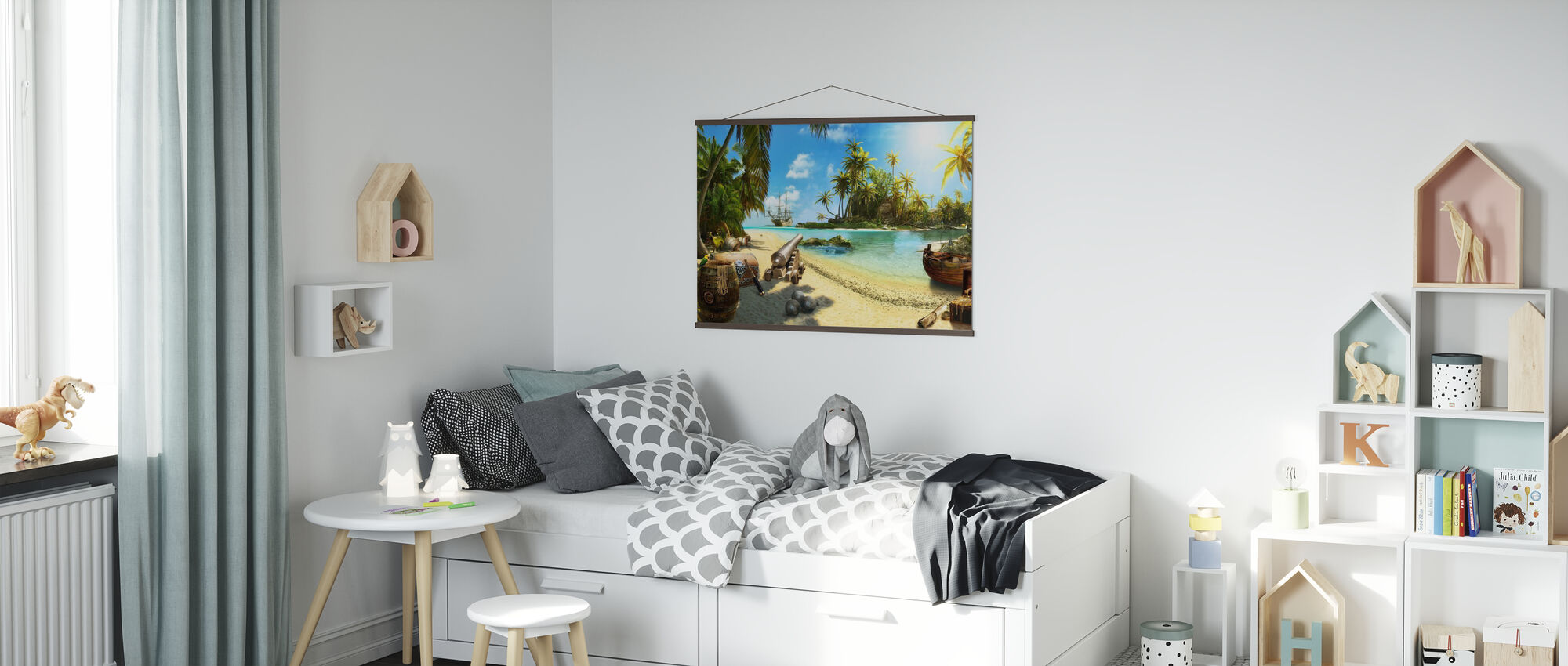 Pirate Island - Poster - Kids Room