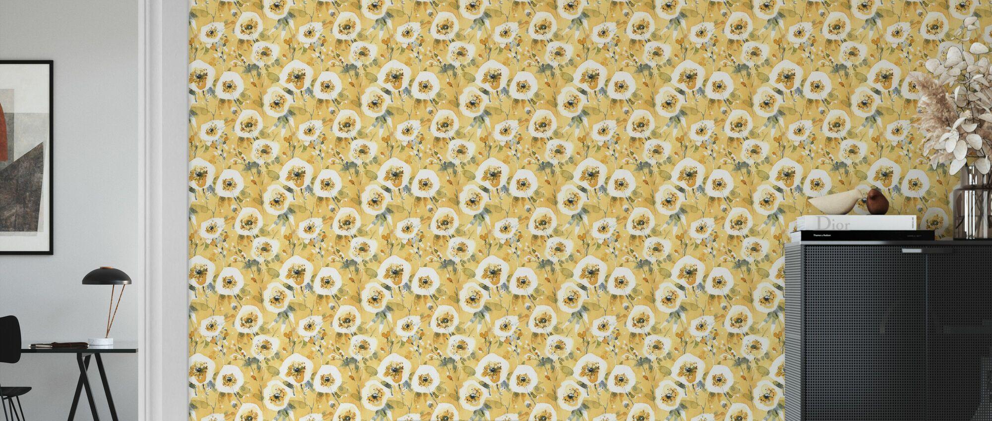 Lykkelig gul 23A - Tapet - Stue