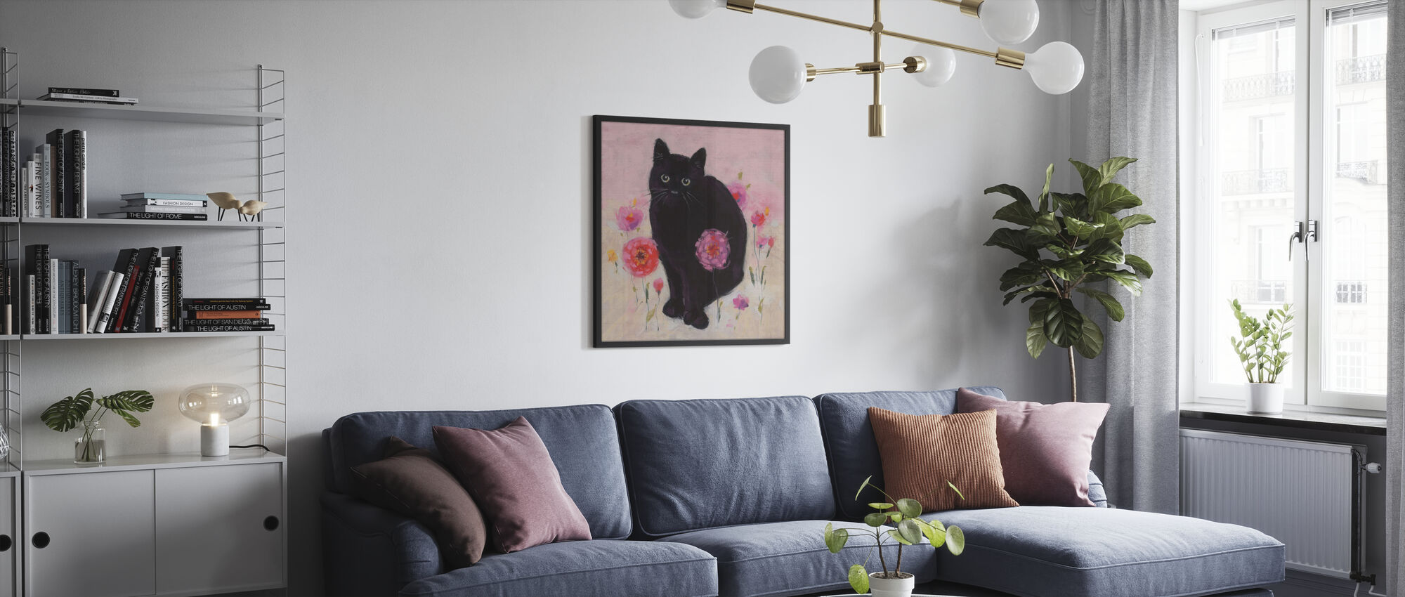 Nina the Cat 02 - Poster - Living Room