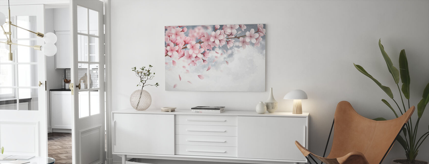 Sakura Blüte - Leinwandbild - Wohnzimmer