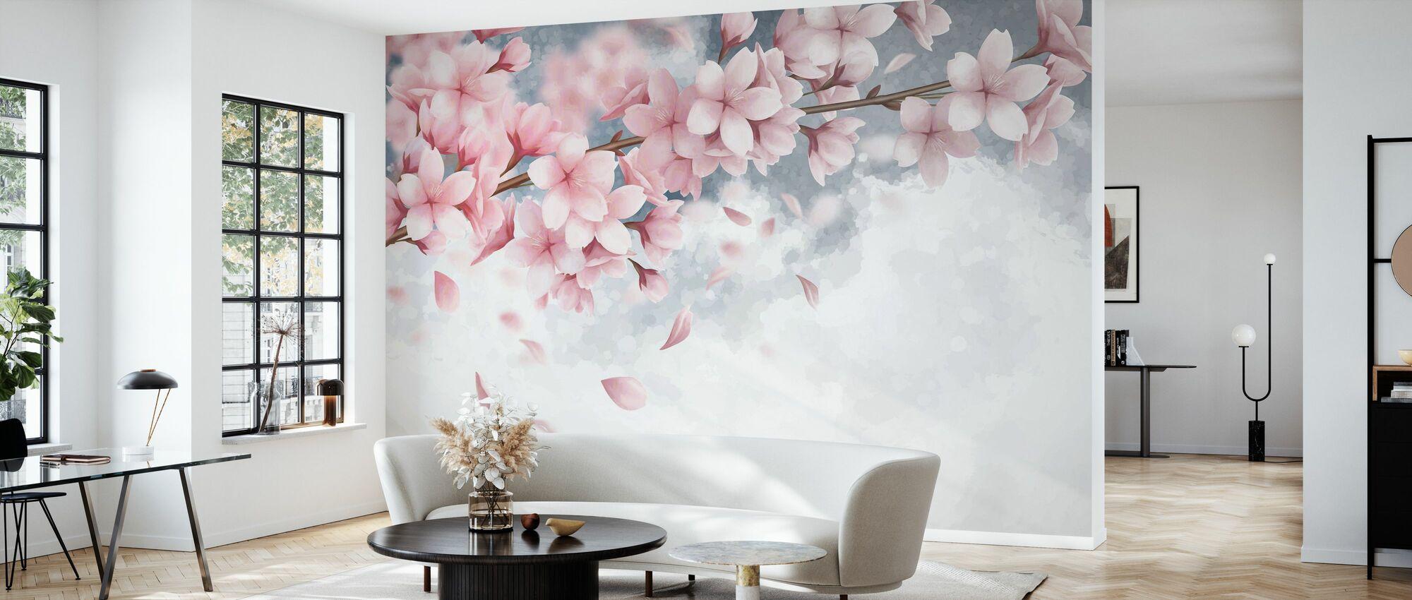 Sakura Bloom - Wallpaper - Living Room