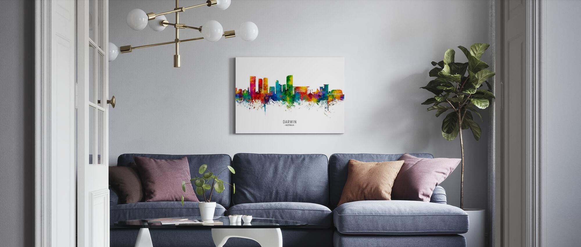 Darwin Australia Skyline - Canvas print - Living Room