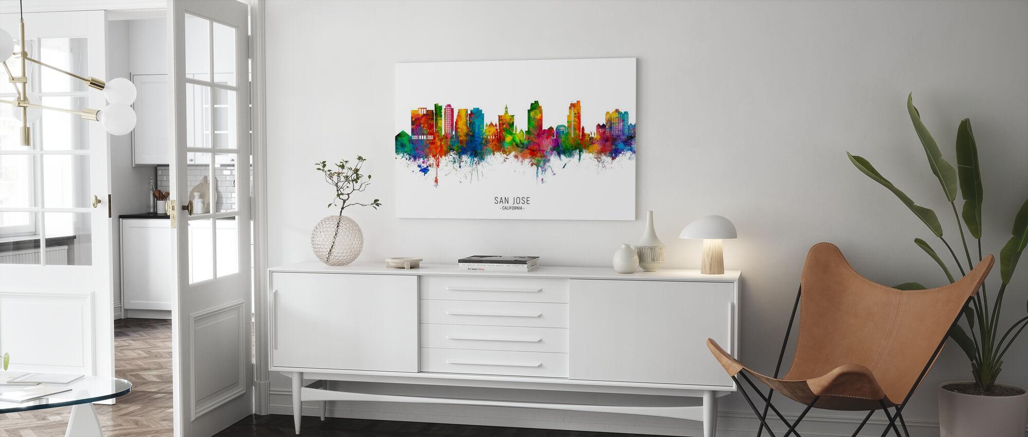 San Jose California Skyline - Canvas print - Living Room