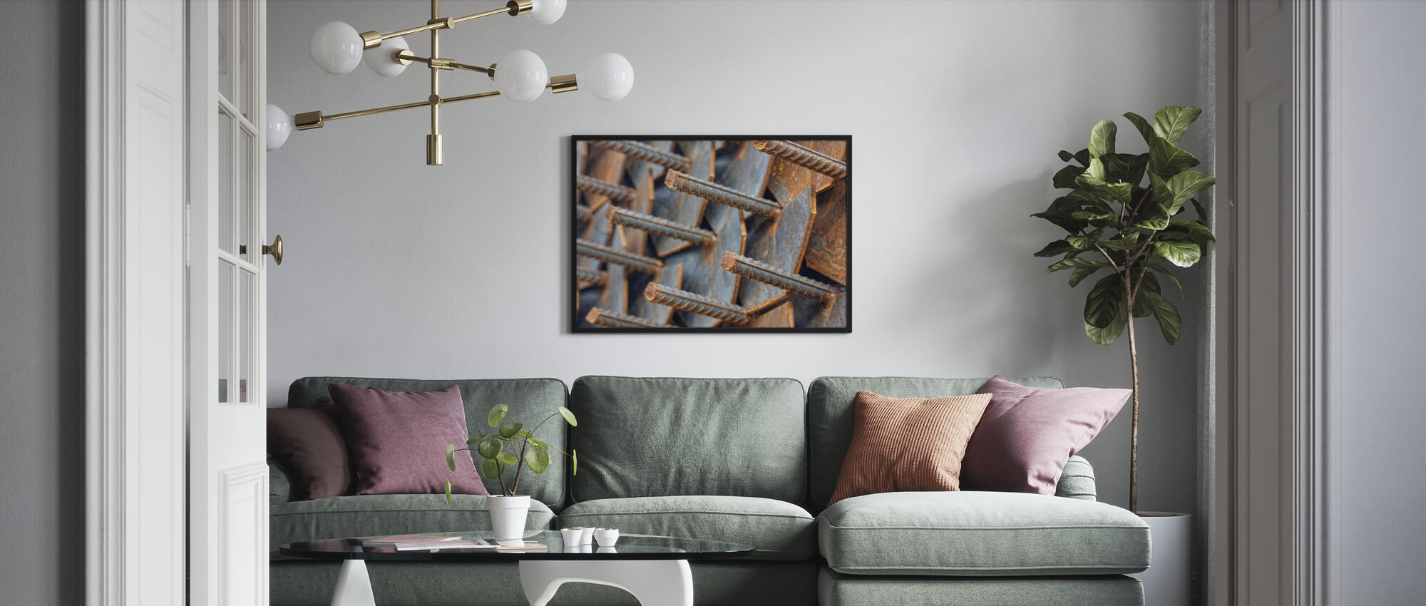 Reinforcement Rods - Framed print - Living Room