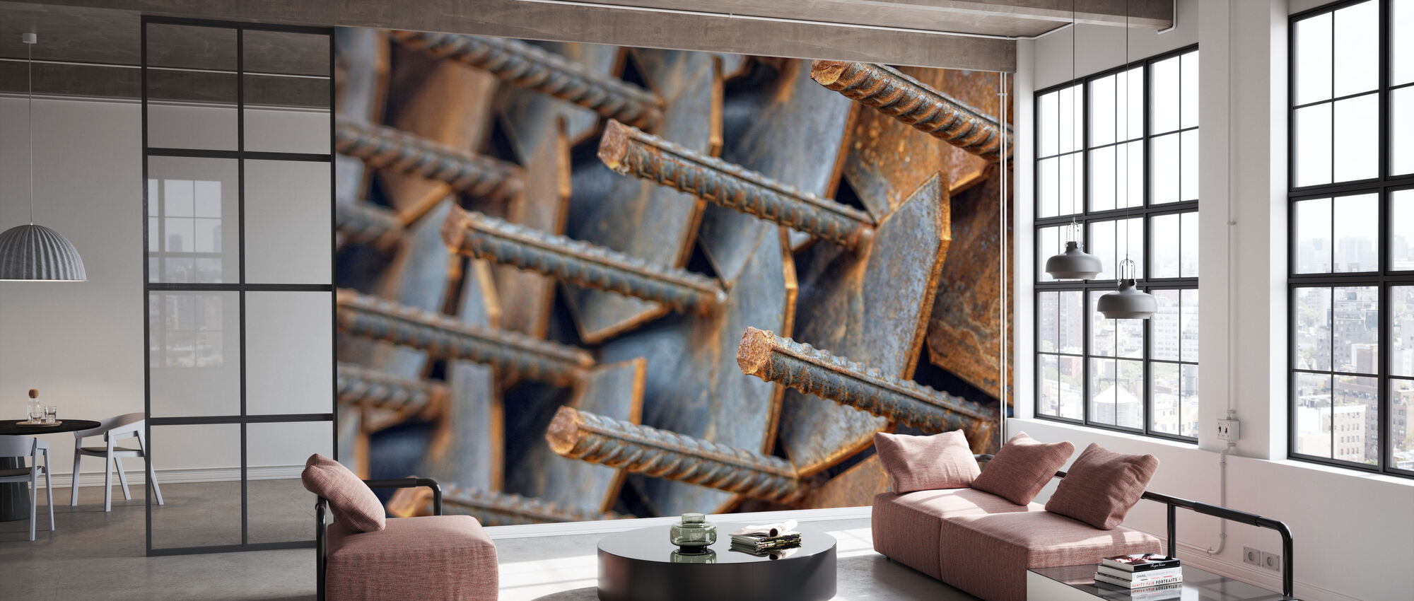 Reinforcement Rods - Wallpaper - Office