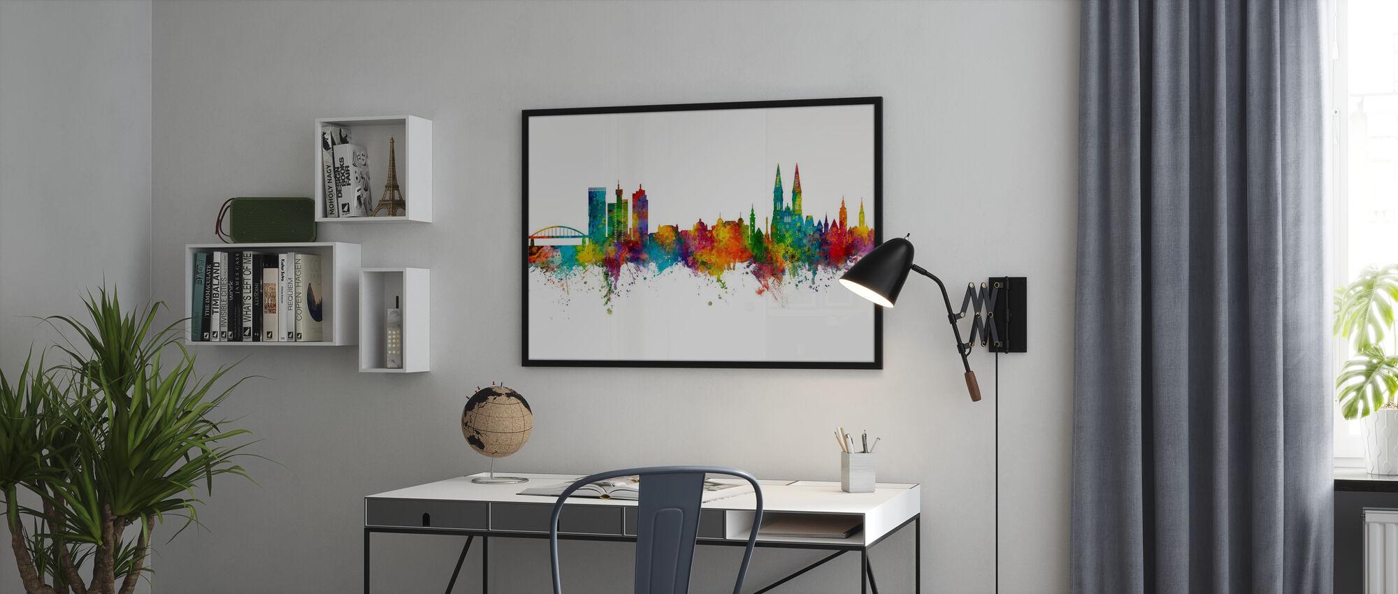 Zagreb Croatia Skyline - Poster - Office