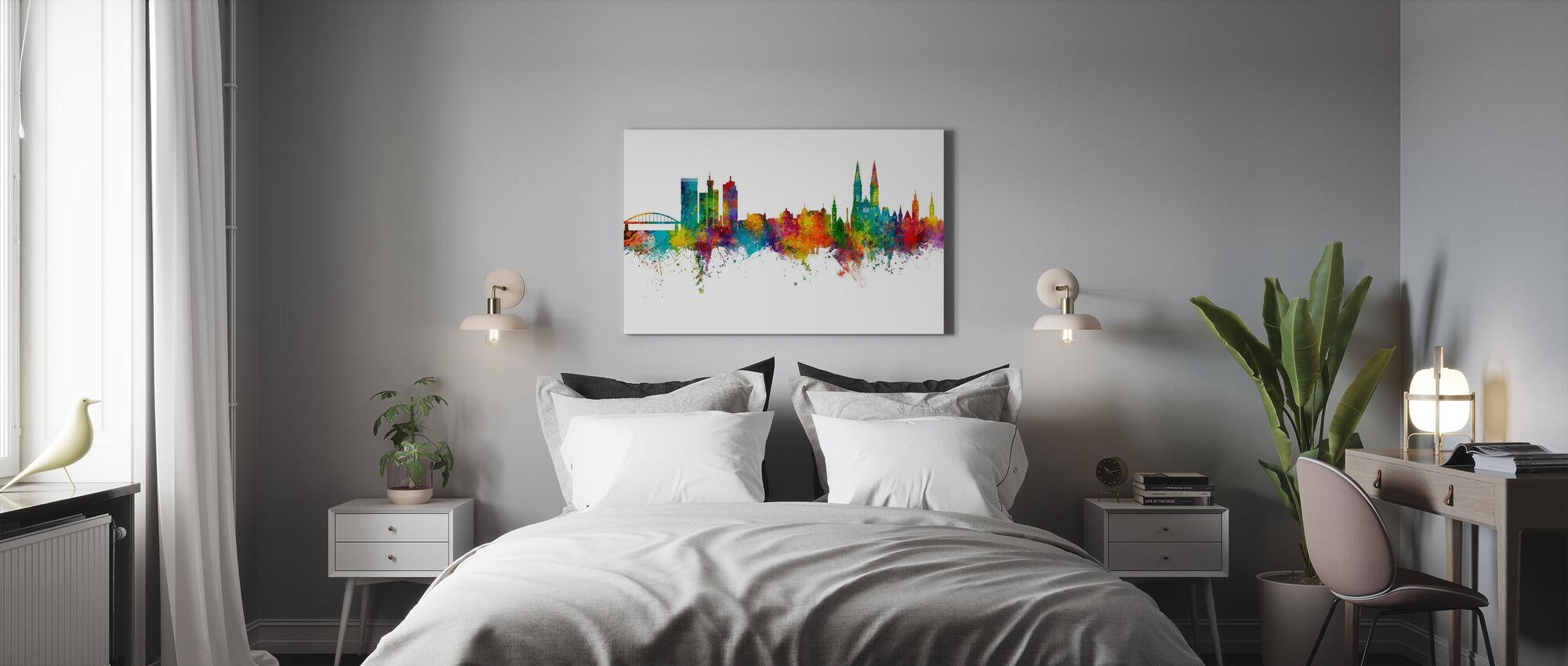 Zagreb Croatia Skyline - Canvas print - Bedroom