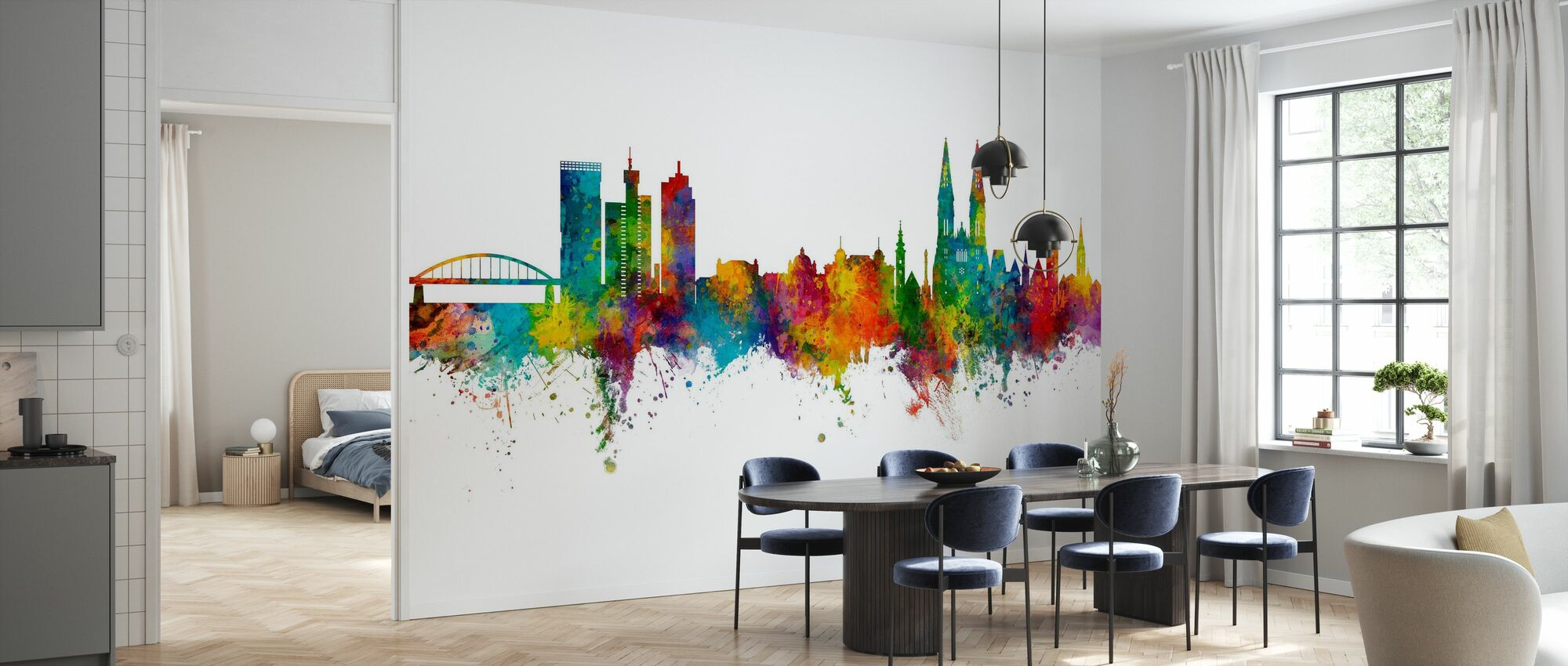 Zagreb Croatia Skyline - Wallpaper - Kitchen