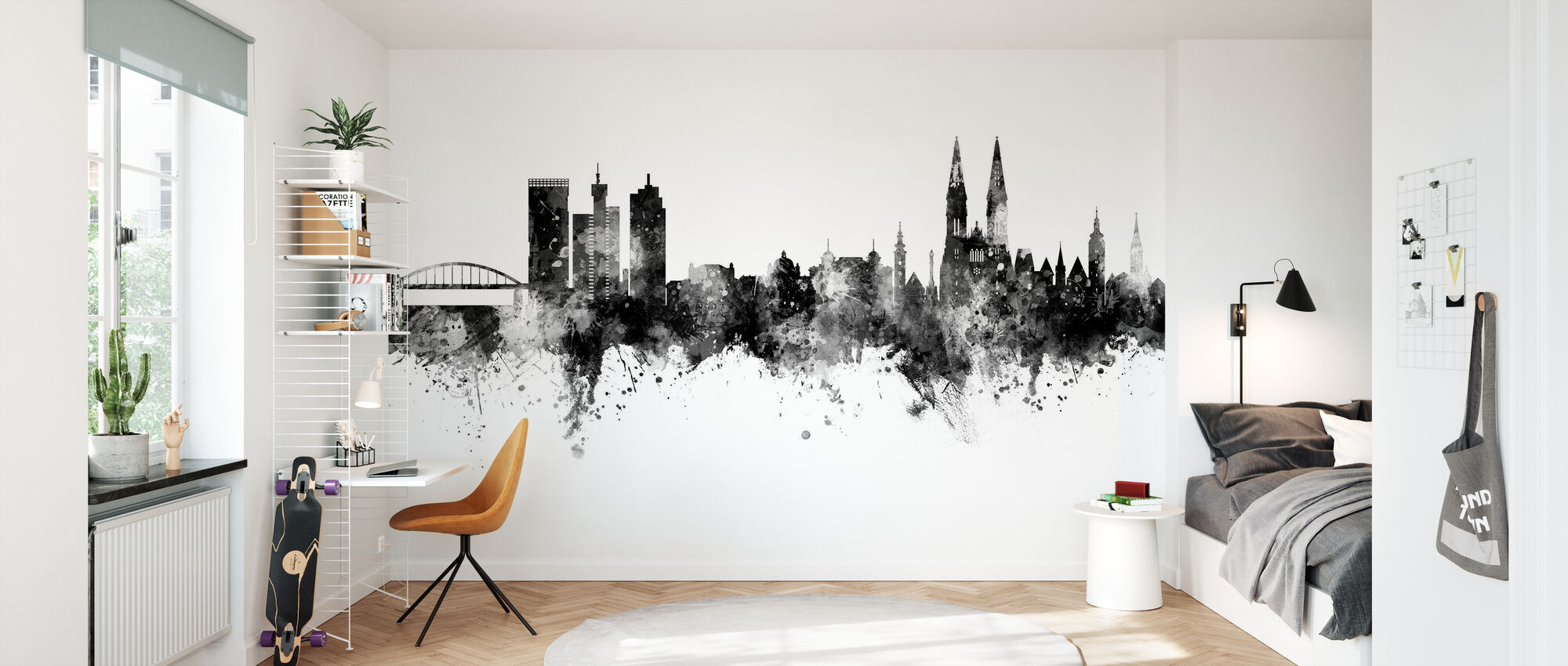 Zagreb Croatia Skyline - Wallpaper - Kids Room