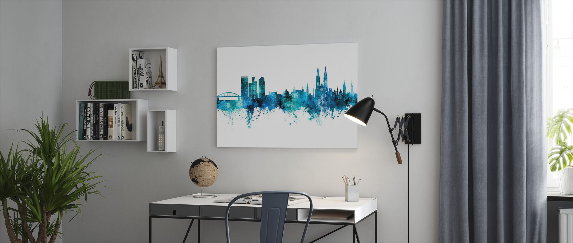 Zagreb Croatia Skyline - Canvas print - Office
