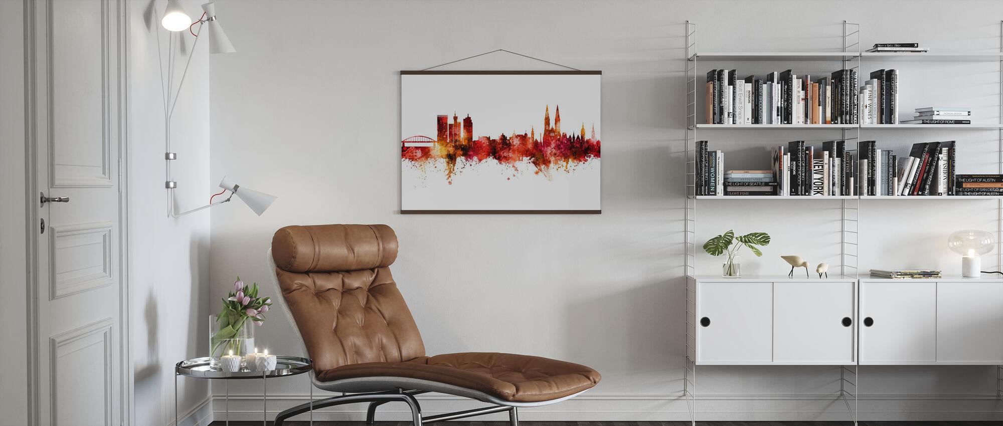 Zagreb Croatia Skyline - Poster - Living Room