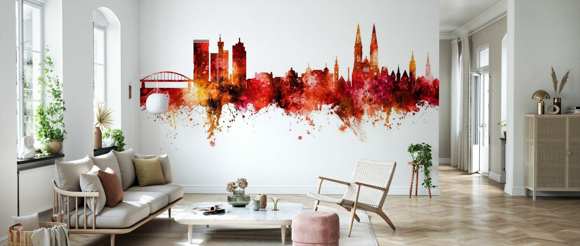 Zagreb Croatia Skyline - Wallpaper - Living Room