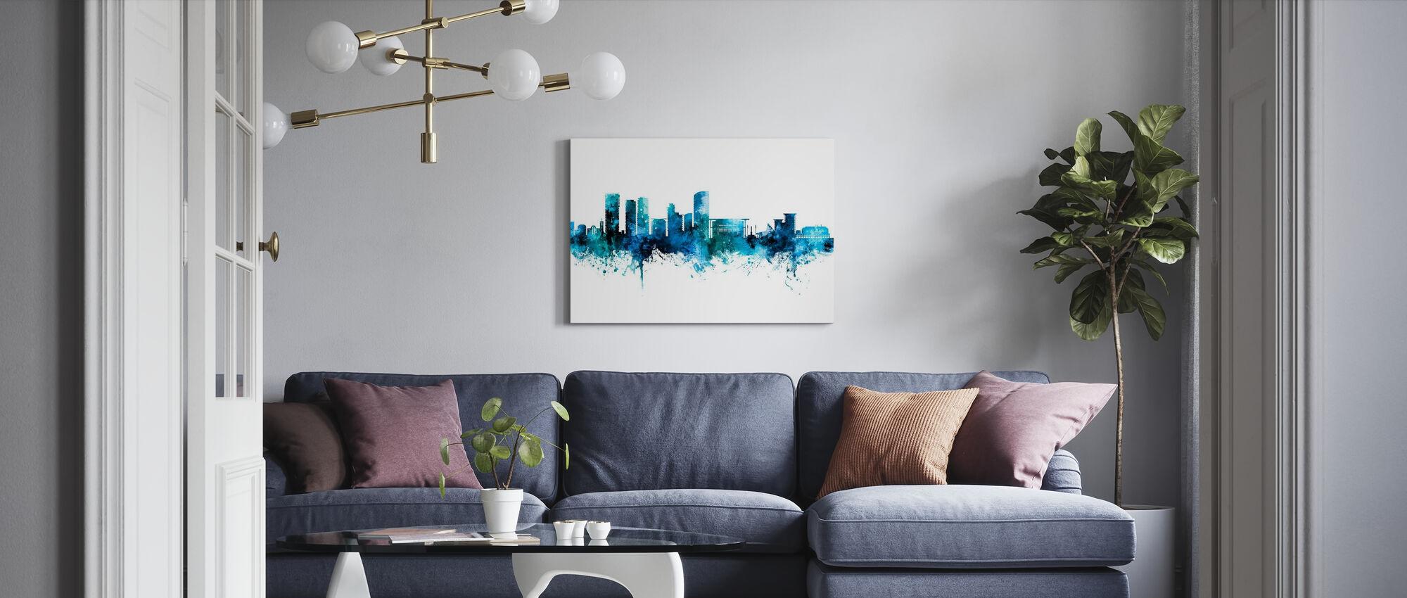 Skyline van Darwin Australië - Canvas print - Woonkamer