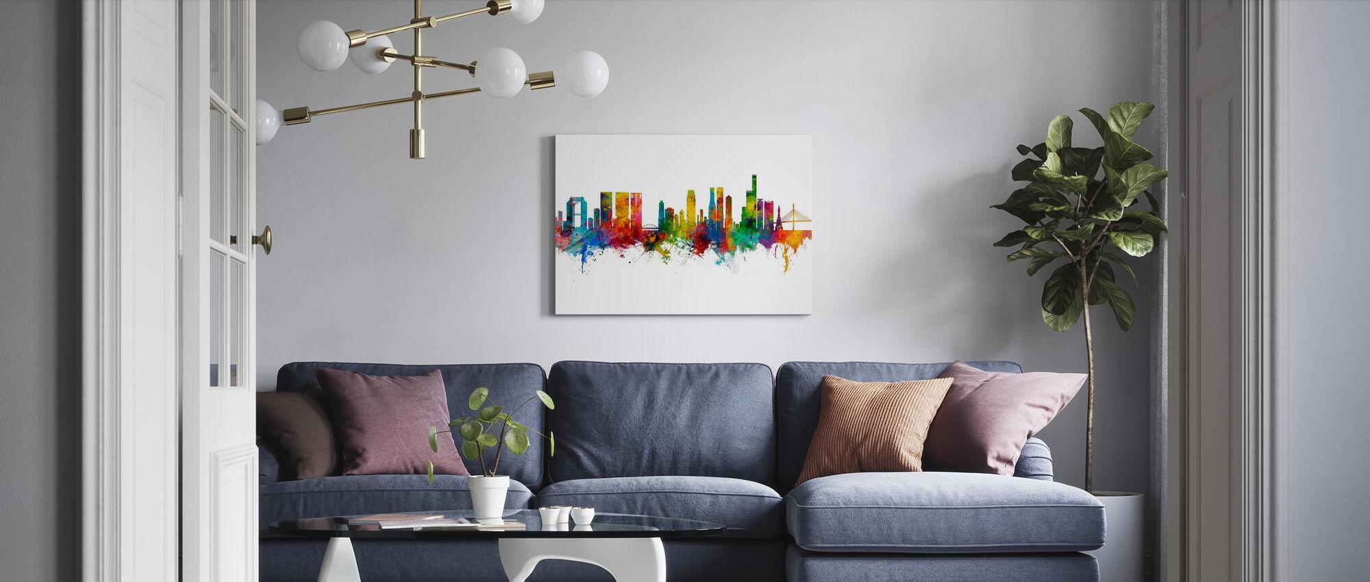 Osaka Japan Skyline - Canvas print - Living Room
