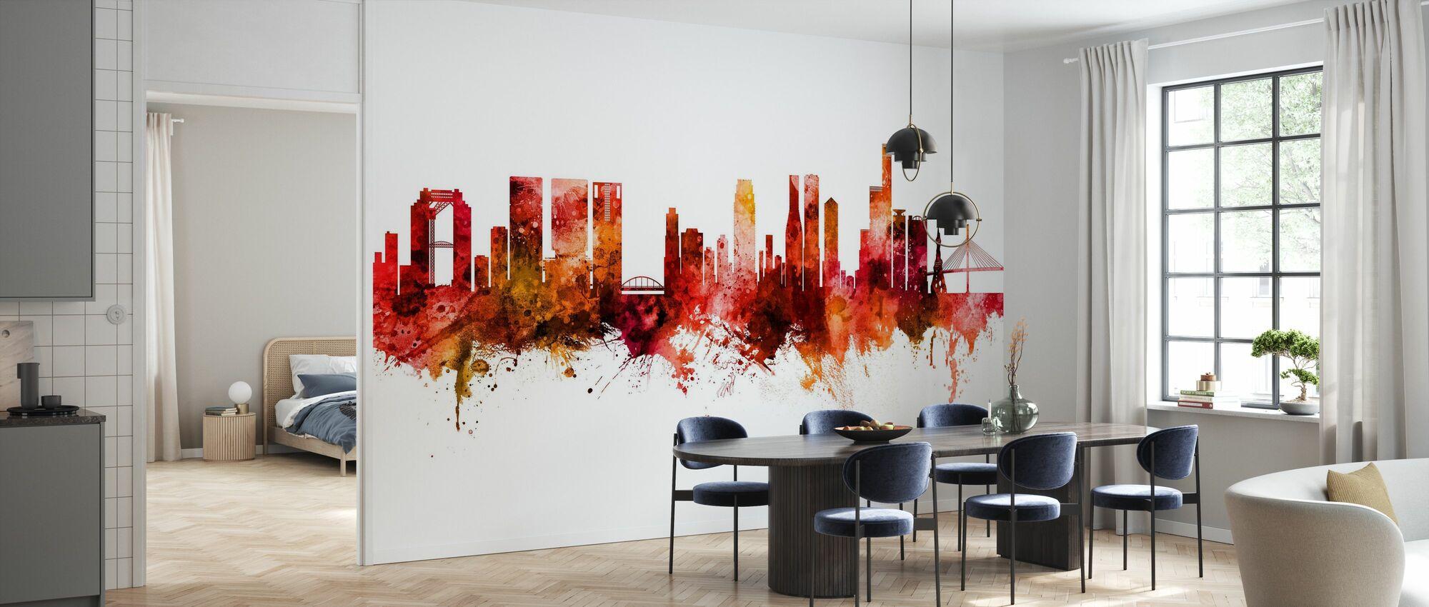 Osaka Japan Skyline - Wallpaper - Kitchen
