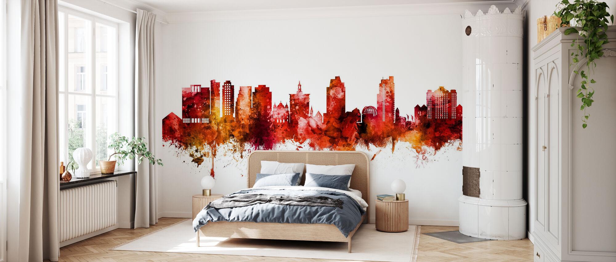 San Jose California Skyline - Wallpaper - Bedroom